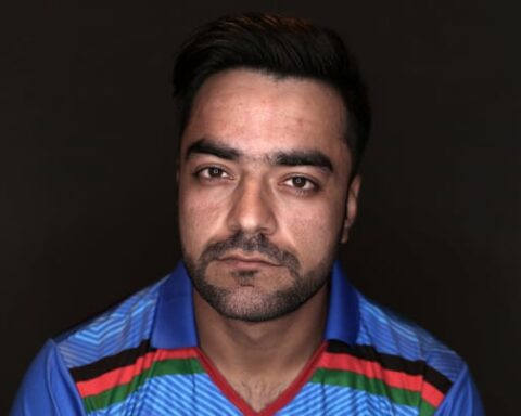 Afghanistan's Rashid Khan has been so busy because of his prowess in short-form cricket that he is rarely at home. Photograph: Catherine Ivill/ICC/Getty Images