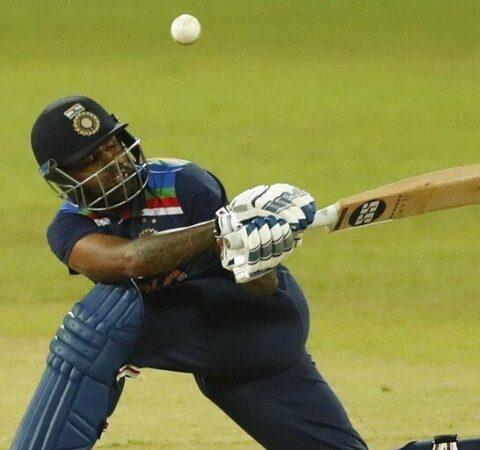 Suryakumar Yadav plays a shot during the first one day international cricket match between Sri Lanka and India in Colombo, Sri Lanka, Sunday, July 18 (Photo | AP)