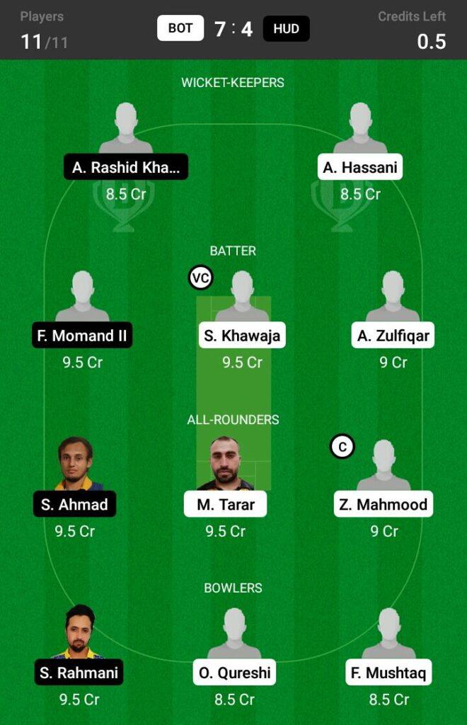 BOT vs HUD Dream11 Prediction, Fantasy Cricket Tips, Dream XI Team, ECS T10 Sweden 2021