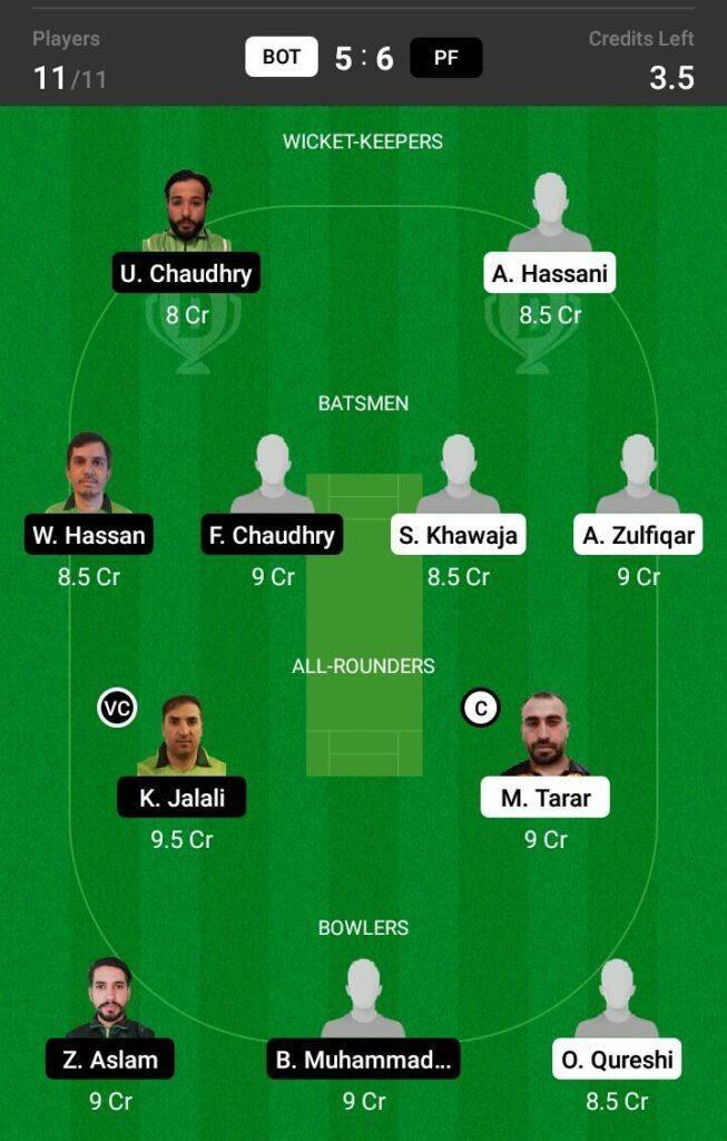 PF vs BOT Dream11 Prediction, Fantasy Cricket Tips, Dream XI Team, ECS T10 Sweden 2021