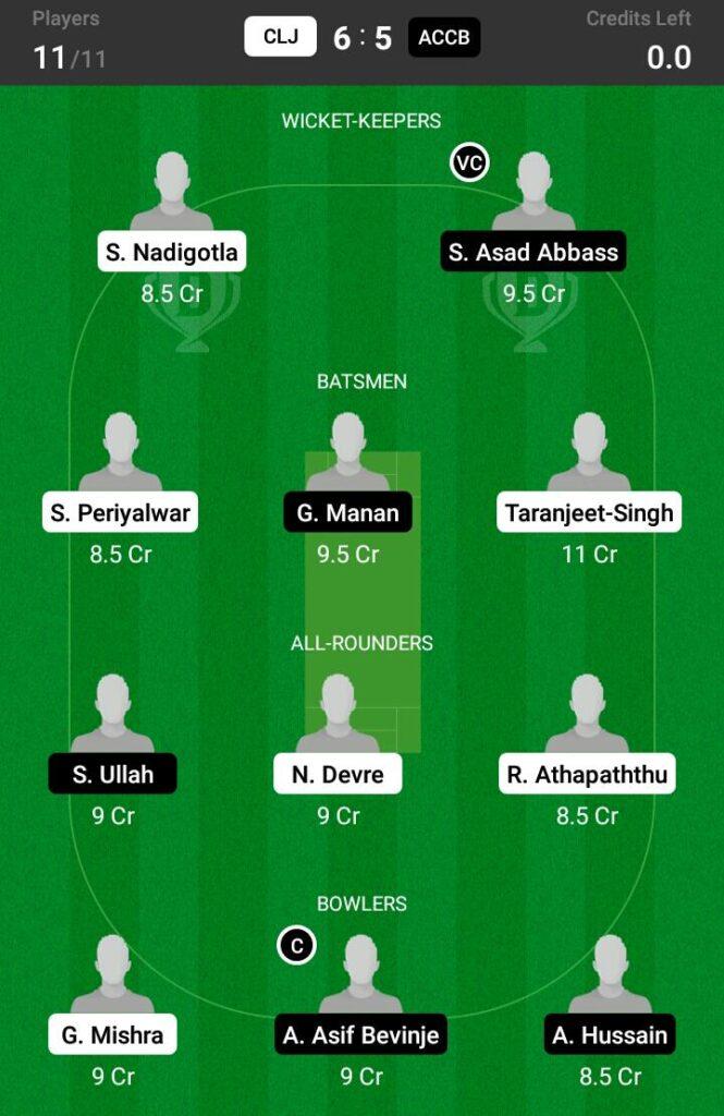 CLJ vs ACCB Dream11 Prediction, Fantasy Cricket Tips, Dream 11 Team, ECS T10 Romania, 2021