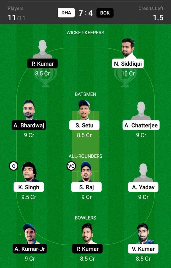 BOK vs DHA Dream11 Prediction, Fantasy Cricket Tips, Dream 11 Team, BYJU'S Jharkhand T20, 2021