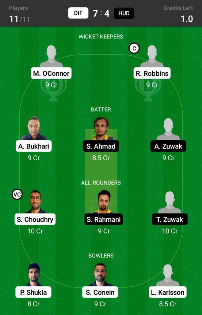 DIF vs HUD Dream11 Prediction, Fantasy Cricket Tips, Dream XI Team, ECS T10 Sweden 2021