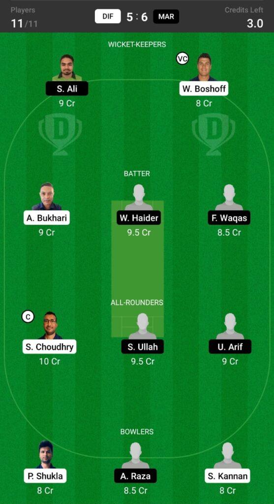 DIF vs MAR Dream11 Prediction, Fantasy Cricket Tips, Dream XI Team, ECS T10 Sweden 2021