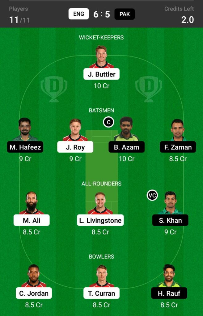 England vs Pakistan Dream11 Prediction, Fantasy Cricket Tips, Dream 11 Team