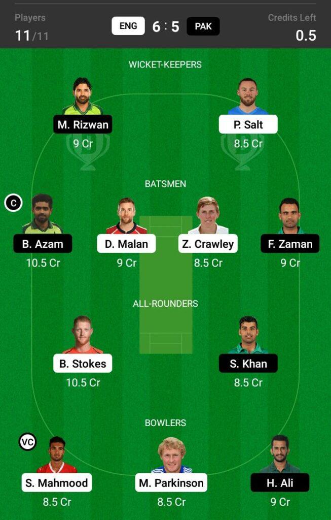 ENG vs PAK Dream11 Prediction, Fantasy Cricket Tips, Dream 11 Team, Pakistan tour of England, 2021