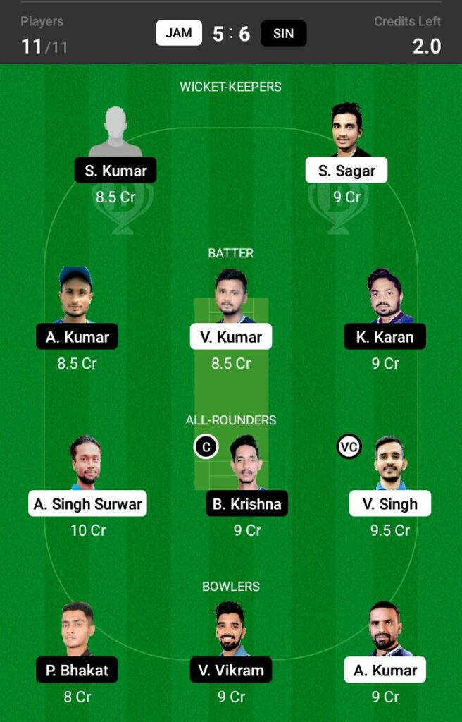 JAM vs SIN Dream11 Prediction, Fantasy Cricket Tips, Dream XI Team, BYJU'S Jharkhand T20 2021