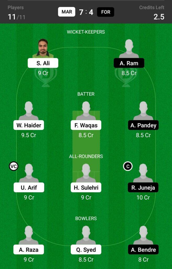 MAR vs FOR Dream11 Prediction, Fantasy Cricket Tips, Dream XI Team, ECS T10 Sweden 2021