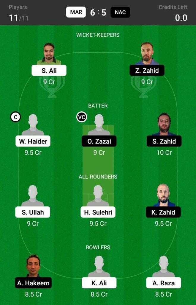 MAR vs NAC Dream11 Prediction, Fantasy Cricket Tips, Dream XI Team, ECS T10 Sweden 2021