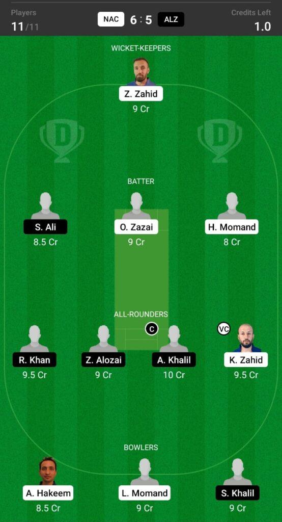 NAC vs ALZ Dream11 Prediction, Fantasy Cricket Tips, Dream XI Team, ECS T10 Sweden 2021