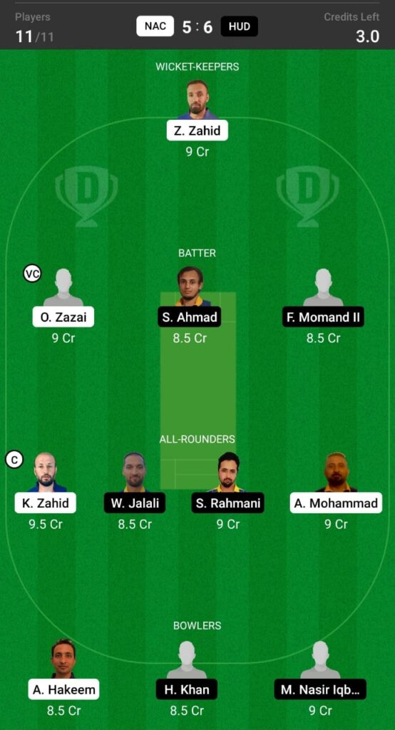 NAC vs HUD Dream11 Prediction, Fantasy Cricket Tips, Dream XI Team, ECS T10 Sweden 2021