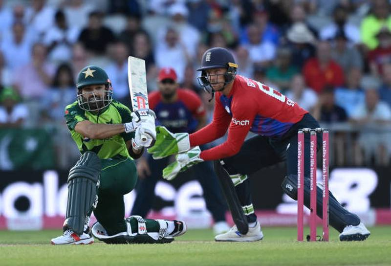Mohammad Rizwan has been in red-hot form in T20s in 2021. (Shaun Botterill/Getty)