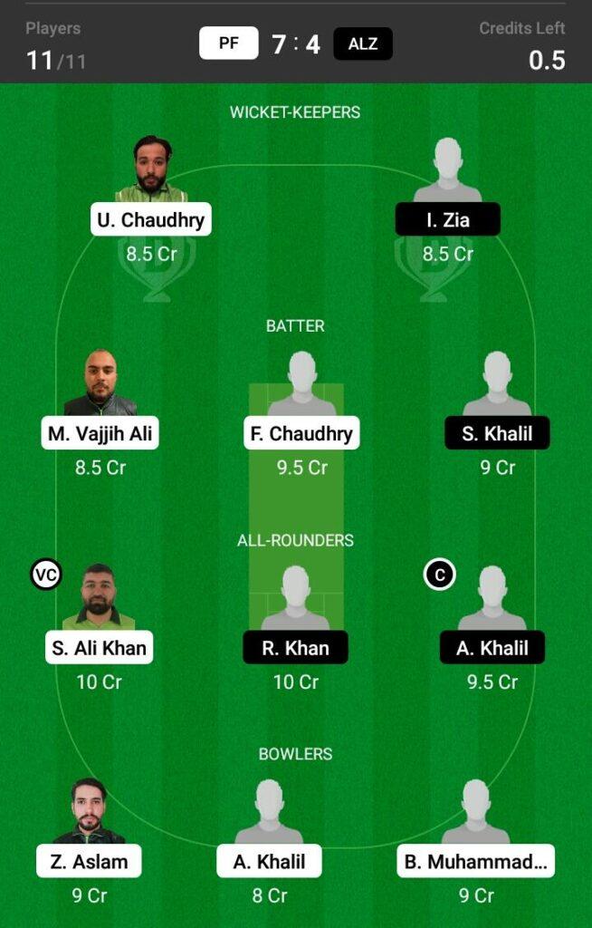PF vs ALZ Dream11 Prediction, Fantasy Cricket Tips, Dream XI Team, ECS T10 Sweden 2021