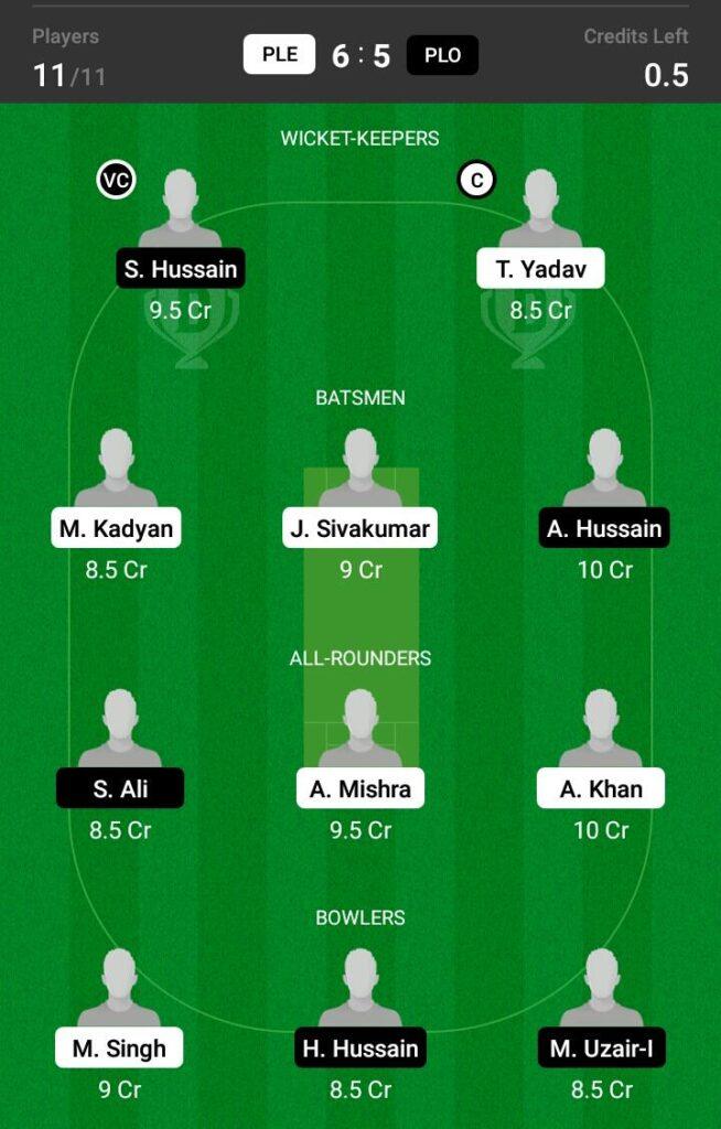 PLE VS PLO Dream 11 Prediction Fantasy Cricket Tips Dream 11Team ECS T10 Bulgaria