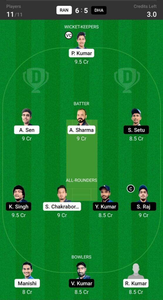 RAN vs DHA Dream11 Prediction, Fantasy Cricket Tips, Dream XI Team, BYJU'S Jharkhand T20 2021