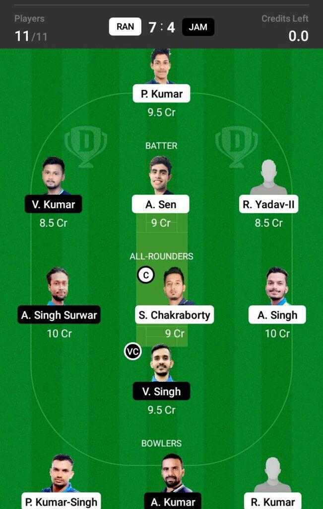 RAN vs JAM Dream11 Prediction, Fantasy Cricket Tips, Dream XI Team, BYJU'S Jharkhand T20 2021