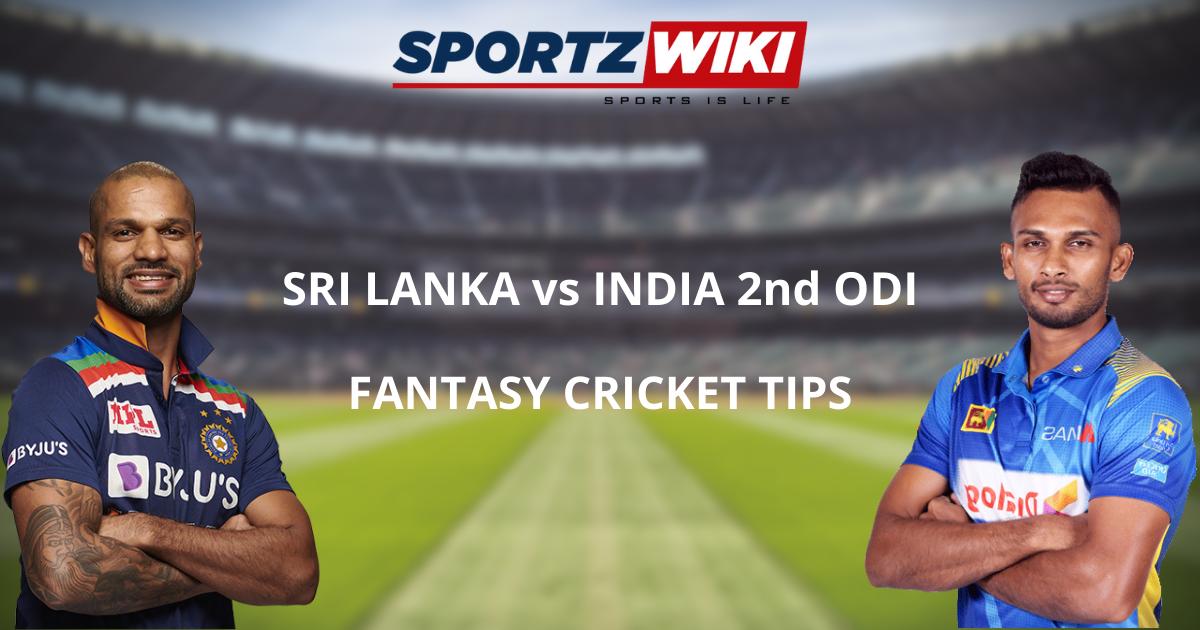Sri Lanka vs India Dream11 Prediction, Fantasy Cricket Tips, Playing XI, Pitch Report, and Injury Update of 2nd ODI match.