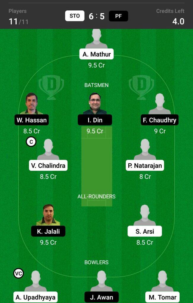 PF vs STO Dream11 Prediction, Fantasy Cricket Tips, Dream 11 Team, ECS T10 Sweden, 2021