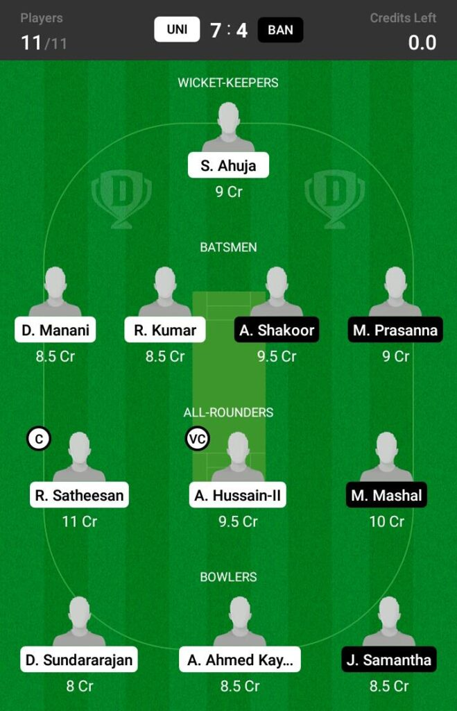 UNI vs BAN Dream11 Prediction, Fantasy Cricket Tips, Dream 11 Team, ECS T10 Romania, 2021