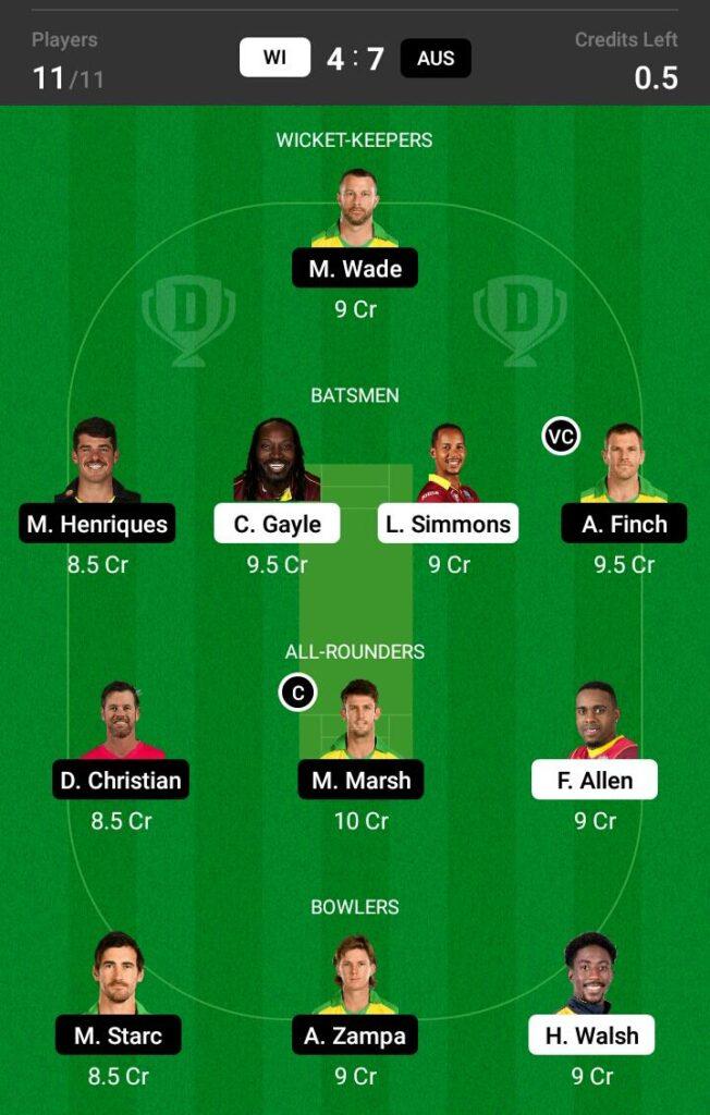 West Indies vs Australia Dream11 Prediction, Fantasy Cricket Tips, Dream 11 Team