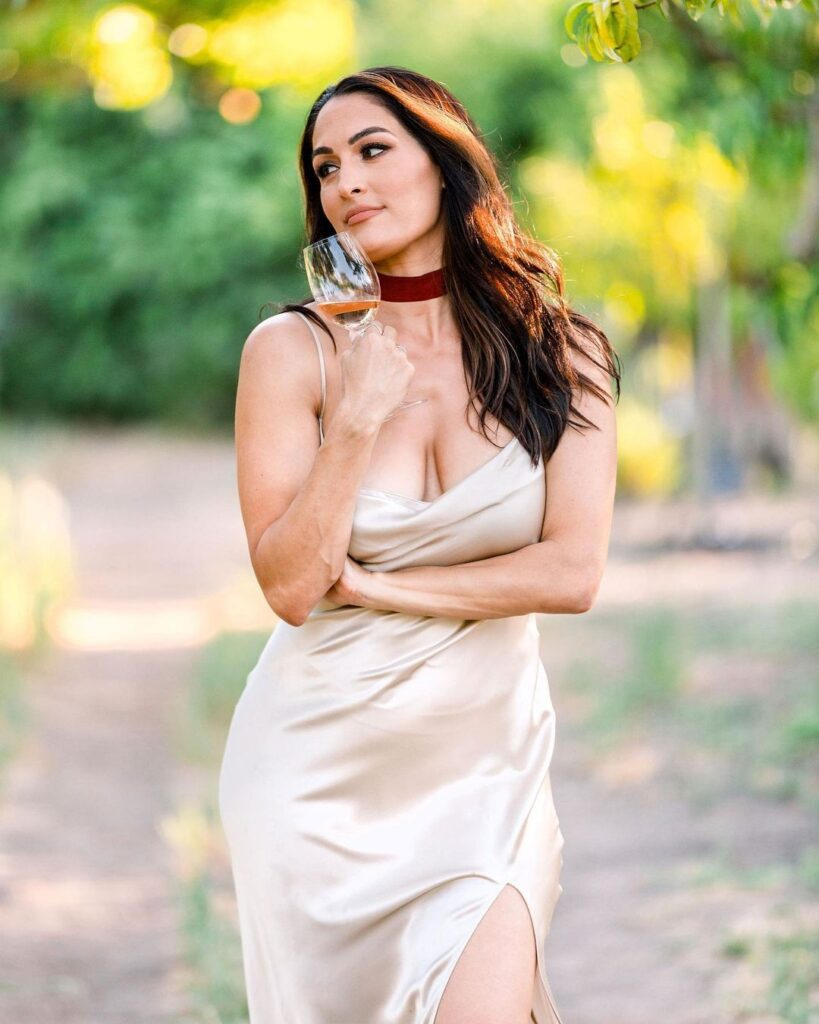 Nikki Bella Poses As White Wine Lover In Stunning Photos Ahead Of WWE Collaboration 38