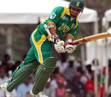 Ashwell Prince squeezes a run off Danish Kaneria © AFP