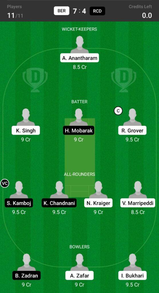 BER vs RCD Dream11 Prediction, Fantasy Cricket Tips, Dream11 Team, ECS T10 Dresden 2021