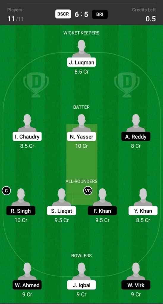 BSCR vs BRI Dream11 Prediction, Fantasy Cricket Tips, Dream11 Team, ECS T10 Dresden 2021