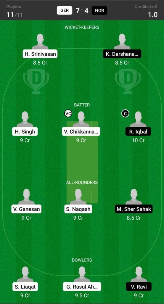 GER vs NOR Dream11 Prediction, Fantasy Cricket Tips, Dream XI Team, Germany T20I Tri Series