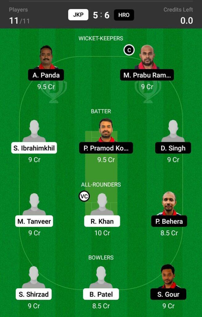 JKP vs HRO Dream11 Prediction, Fantasy Cricket Tips, Dream XI Team, ECS T10 Malmo 2021