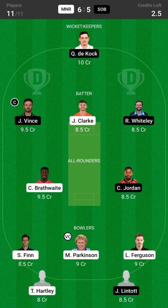 MNR vs SOB Dream11 Prediction, Fantasy Cricket Tips, Dream XI Team, The Hundred Men's Competition, 2021