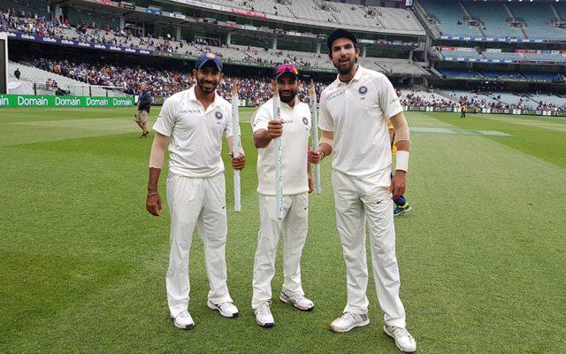 Mohammed Shami, Ishant Sharma and Jasprit Bumrah (Photo-Getty)