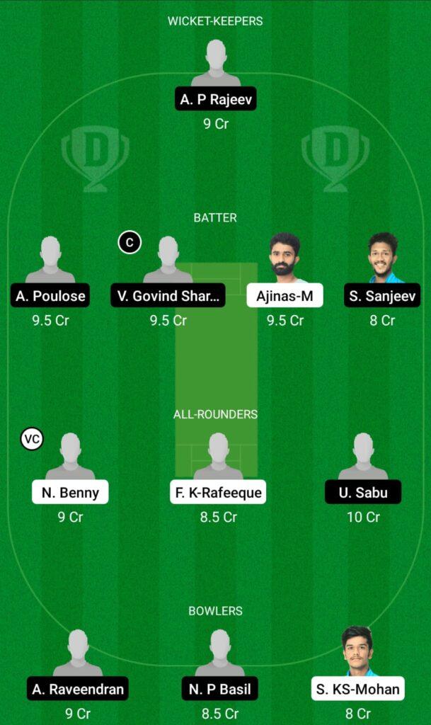SWC vs MRC Dream11 Prediction, Fantasy Cricket Tips, Dream11 Team, Kerala Club Championship 2021