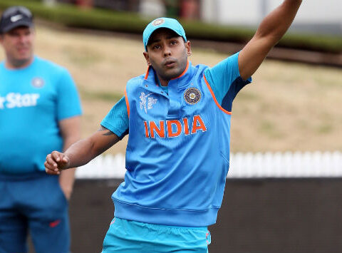 Stuart Binny had a long session in the nets ahead of the game © AFP