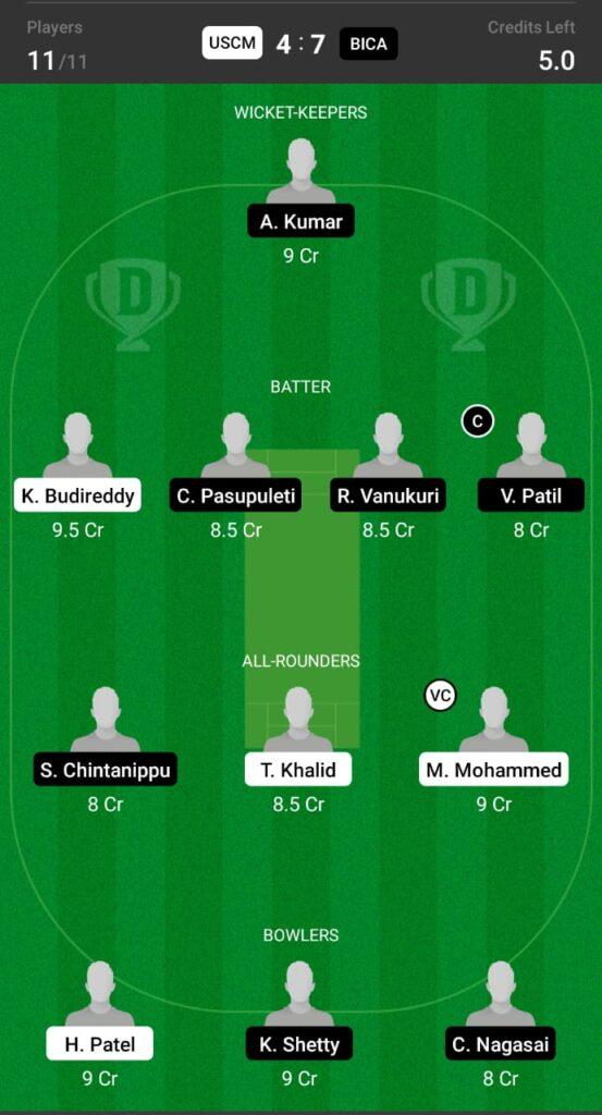 USCM vs BICA Dream11 Prediction, Fantasy Cricket Tips, Dream11 Team, ECS T10 Dresden 2021