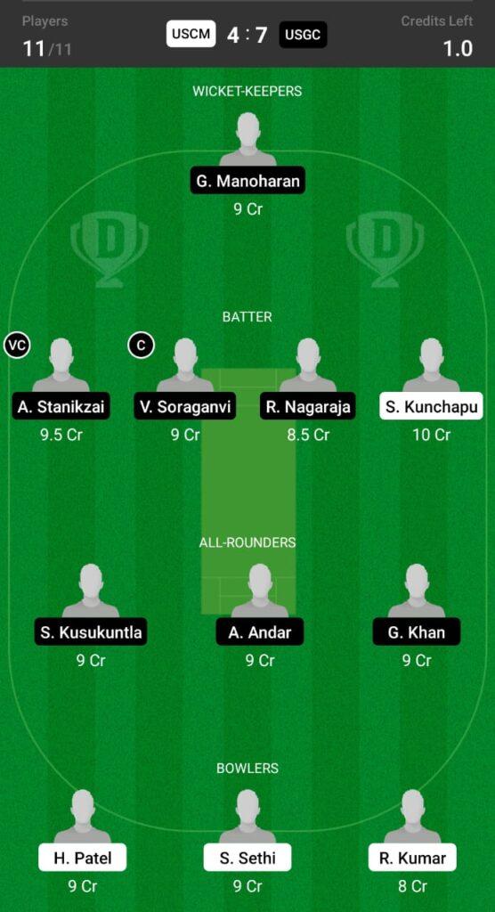 USCM vs USGC Dream11 Prediction, Fantasy Cricket Tips, Dream11 Team, ECS T10 Dresden 2021