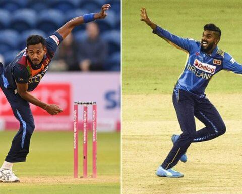 Dushmantha Chameera and Wanindu Hasaranga. (Getty Images)