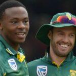 Kagiso Rabada and AB de Villiers