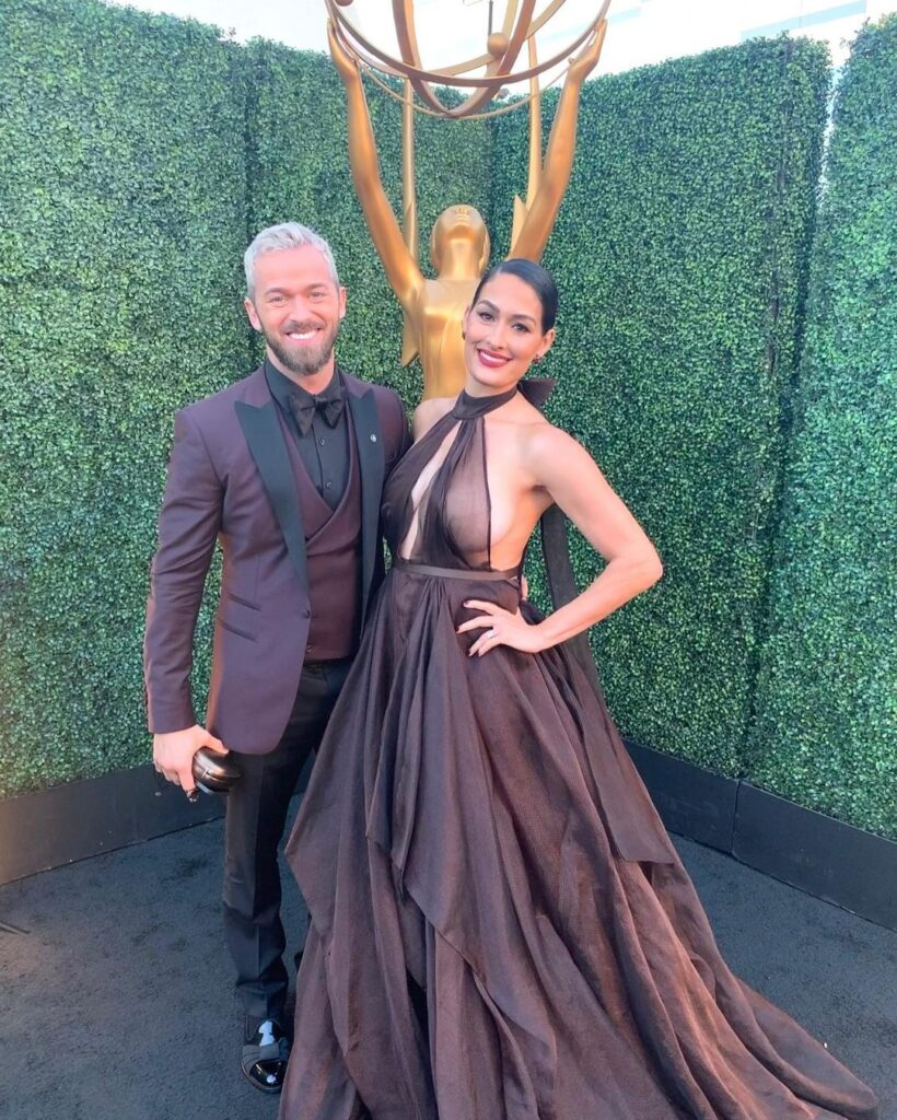 WWE Star Nikki Bella Shows Off Her Gown From Emmy 2021 Appearance 4