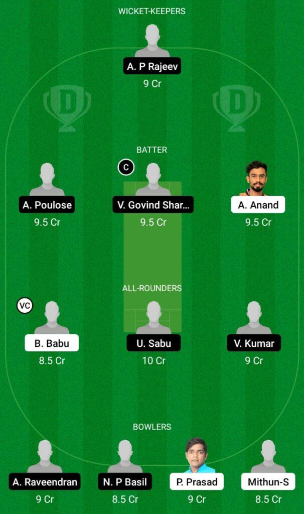 ALC vs MRC Dream11 Prediction, Fantasy Cricket Tips, Dream11 Team, Kerala Club Championship 2021