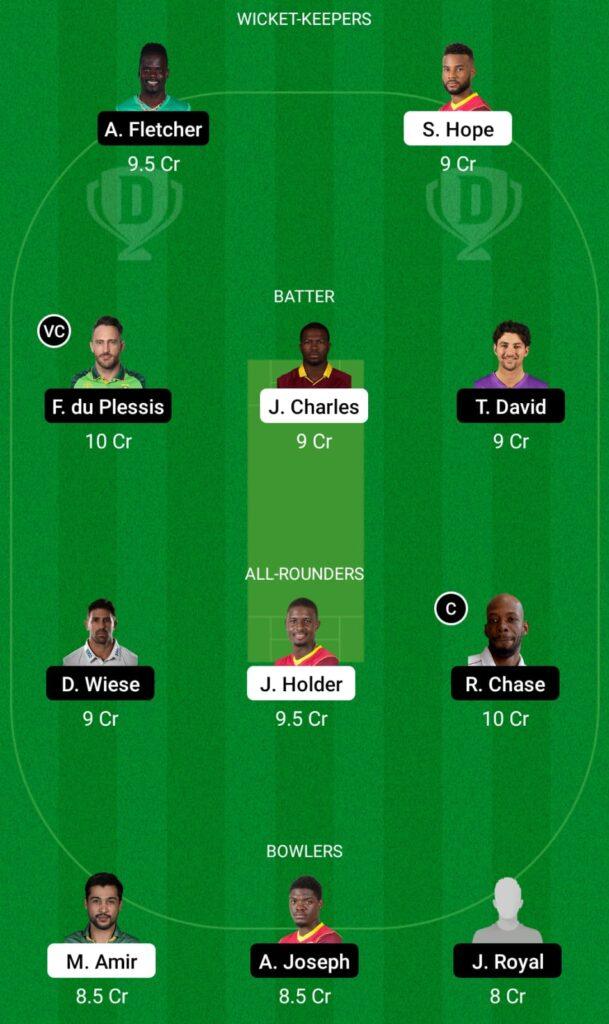 CPL 2021- BR vs SLK Dream11 Prediction, Fantasy Cricket Tips, Dream11 Team