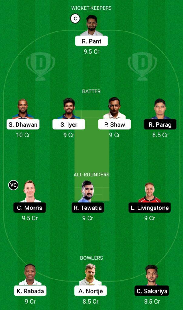 IPL 2021- DC vs RR Dream11 Prediction, Fantasy Cricket Tips, Dream11 Team