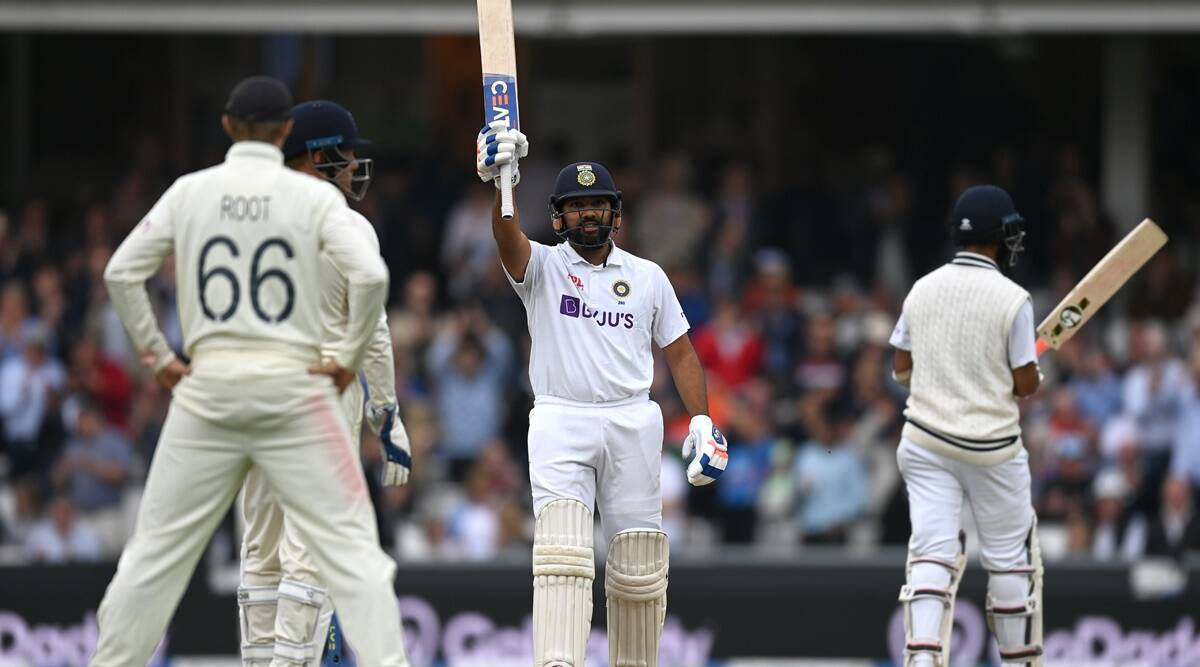 Rohit Sharma celebrates his century during the fourth Test against England. (Twitter/BCCI)