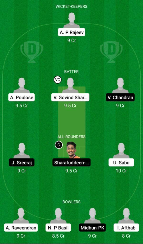 MRC vs PRC Dream11 Prediction, Fantasy Cricket Tips, Dream11 Team, Kerala Club Championship 2021