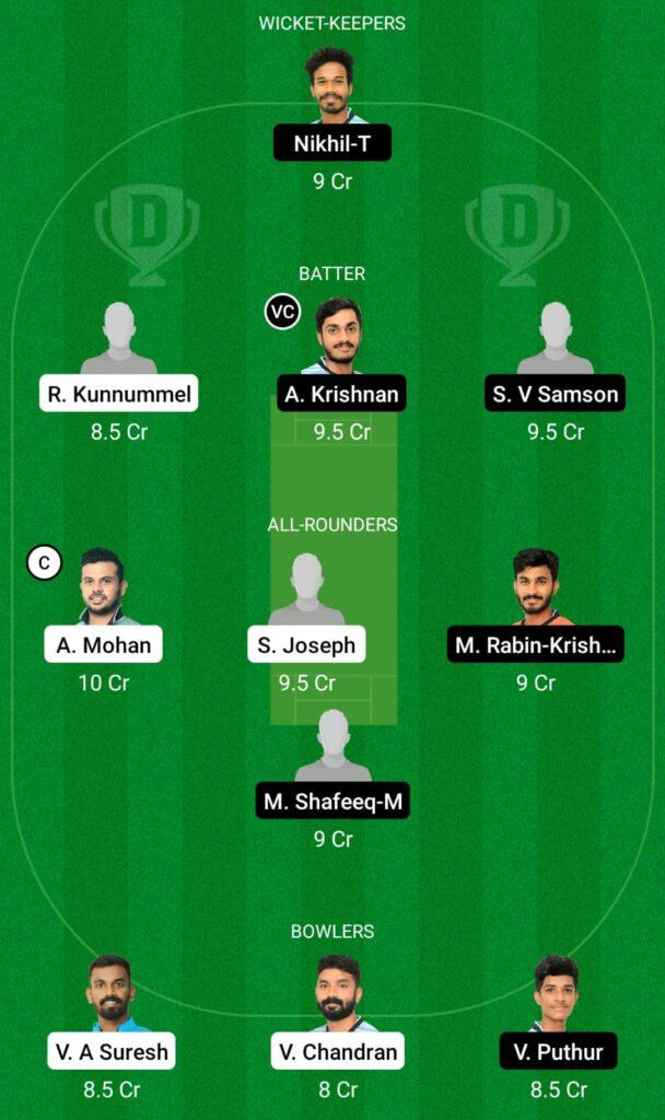 MTC vs JRO Dream11 Prediction, Fantasy Cricket Tips, Dream11 Team, Kerala Club Championship 2021