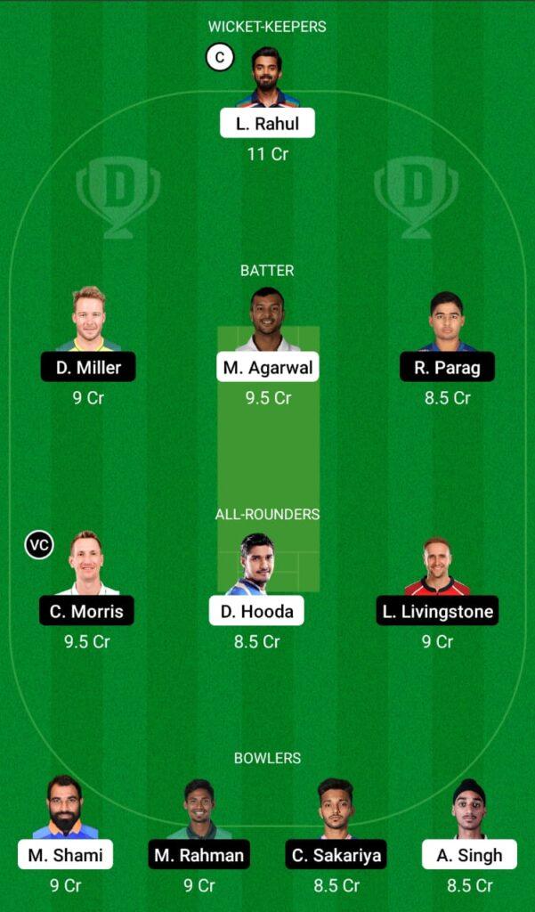 IPL 2021- PBKS vs RR Dream11 Prediction, Fantasy Cricket Tips, Dream11 Team
