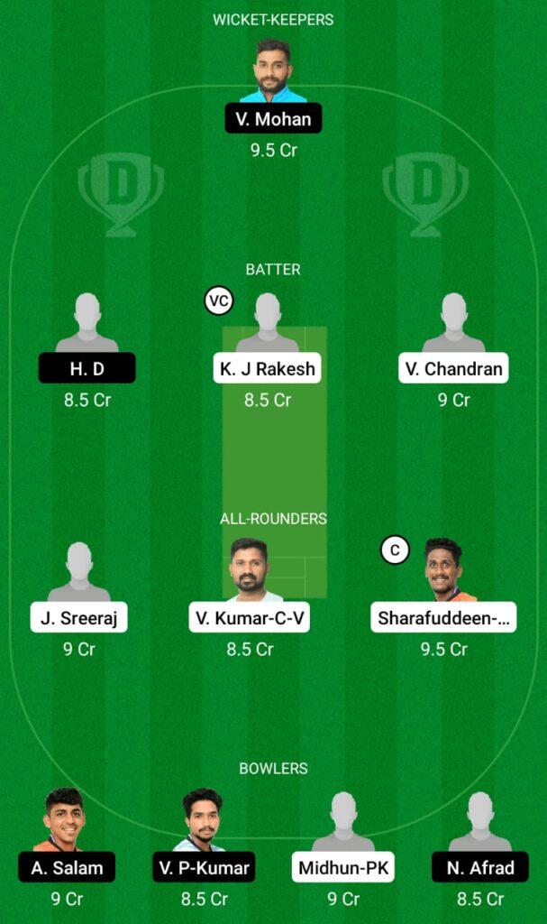 PRC vs SWC Dream11 Prediction, Fantasy Cricket Tips, Dream11 Team, Kerala Club Championship 2021