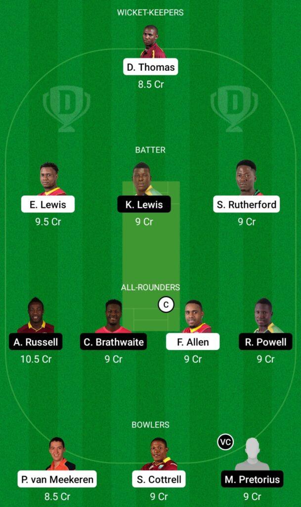 CPL 2021- SKN vs JAM Dream11 Prediction, Fantasy Cricket Tips, Dream11 Team