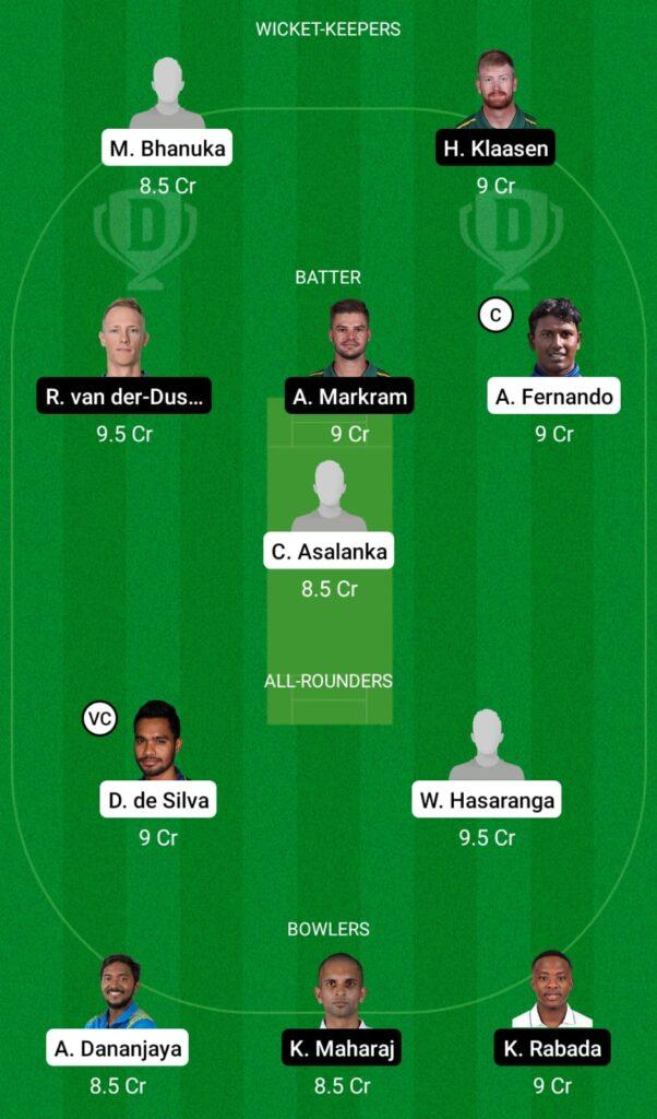 SL vs SA Dream11 Prediction, Fantasy Cricket Tips, Dream11 Team, South Africa Tour of Sri Lanka 2021