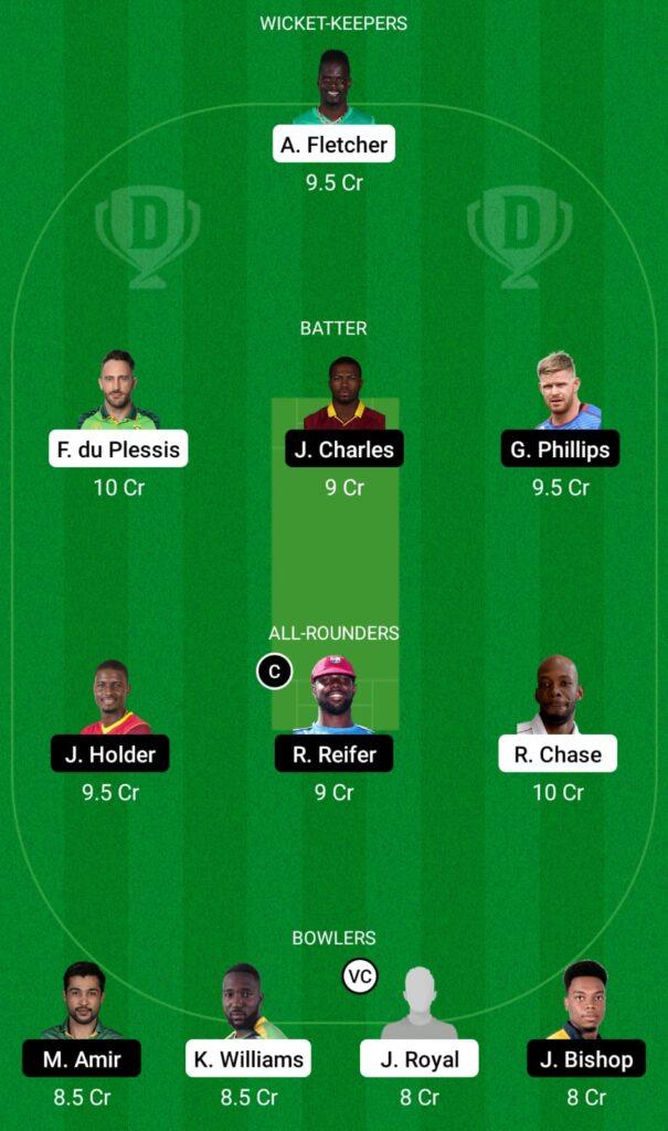 CPL 2021- SLK vs BR Dream11 Prediction, Fantasy Cricket Tips, Dream11 Team